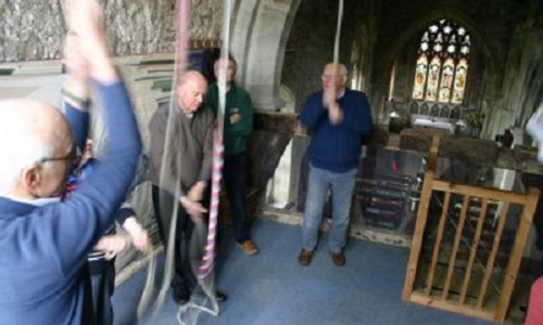 Ringers being conducted